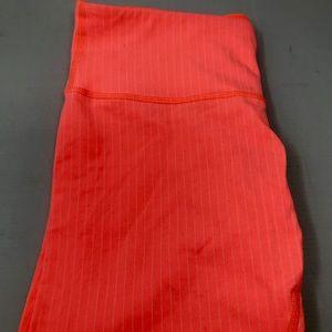 lululemon athletica Pants - Lululemon Pop Orange Wunder Unders Crops